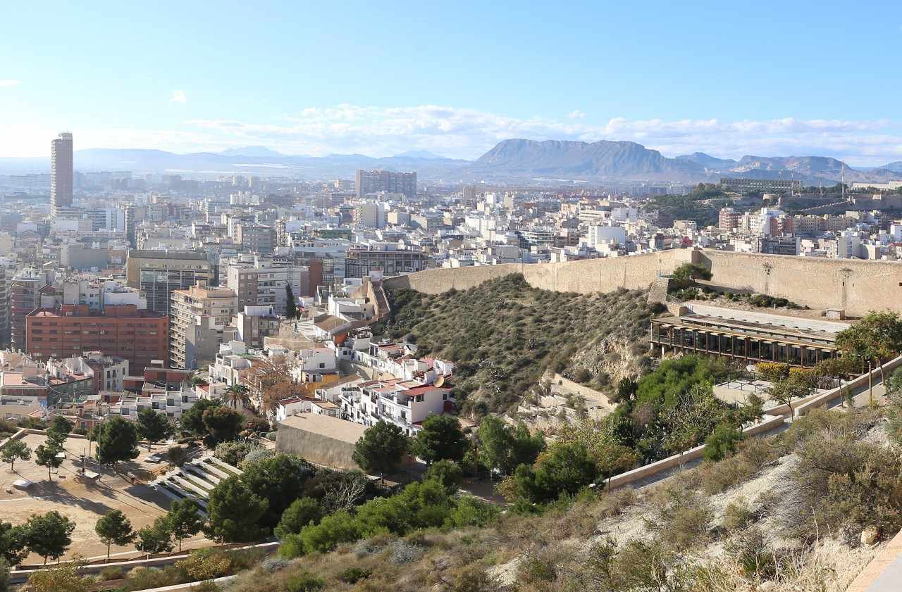 Alicante views from the Ereta park
